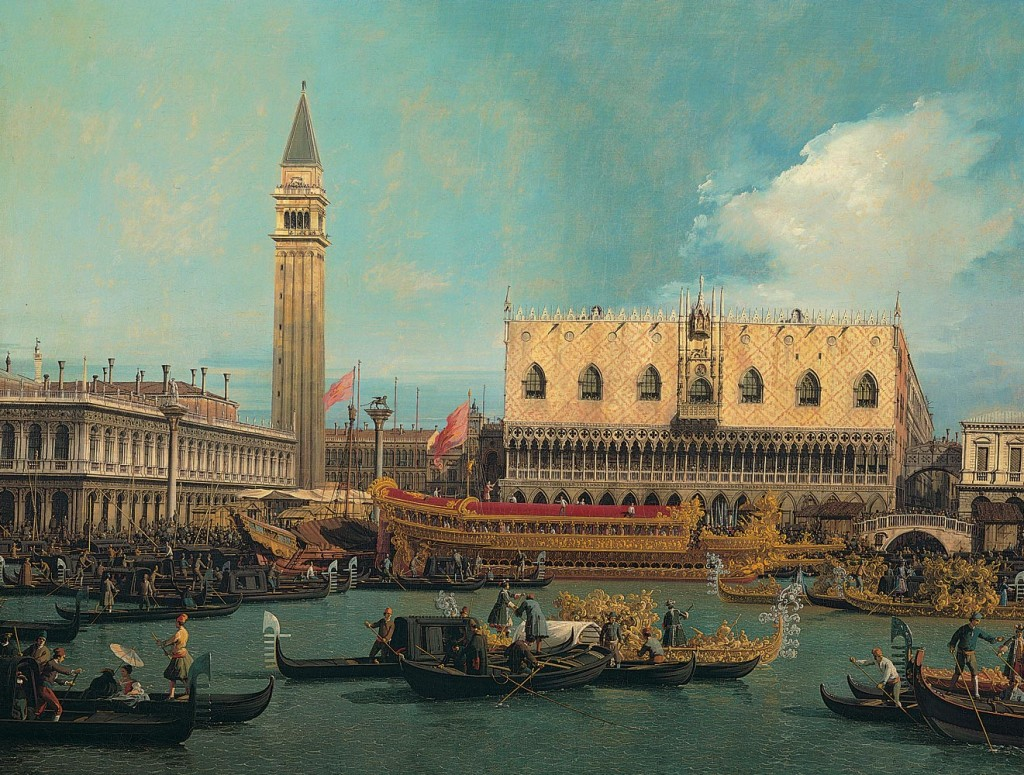 Hail to the Ducal Palace by the 'vedutista', symbol of Venice, Antonio Canaletto 1697-1768,