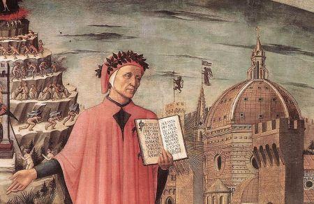 Dante (detail), Domenico di Michelino, Florence 1465