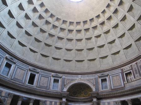 Il Pantheon, Roma: realizzato da Marco Agrippa nel 27 a. C,